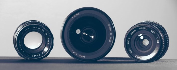 Picture of camera lenses