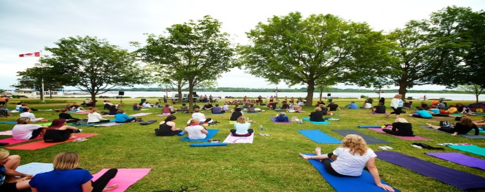 Picture of yoga in the park