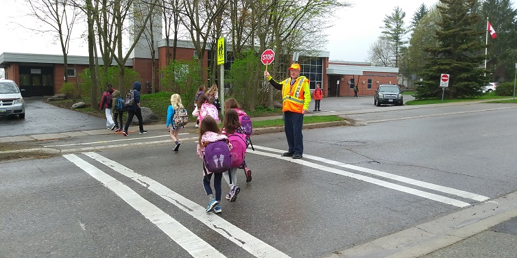 Crossing Guard at RH Cornish Public School