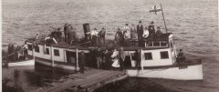 historical photo of a steamboat on Lake Scugog
