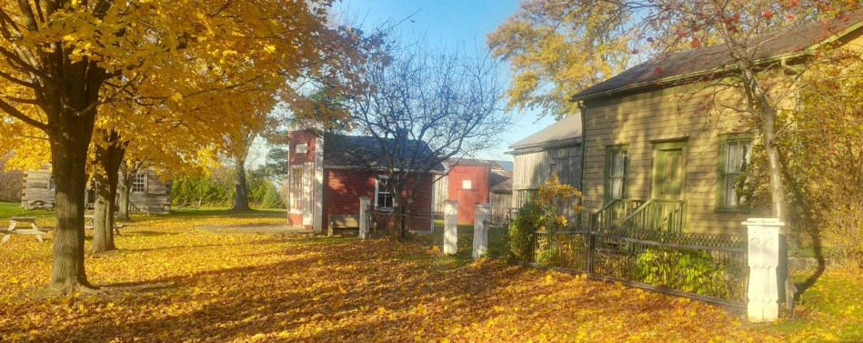 Scugog Shores Pioneer Village in the autumn