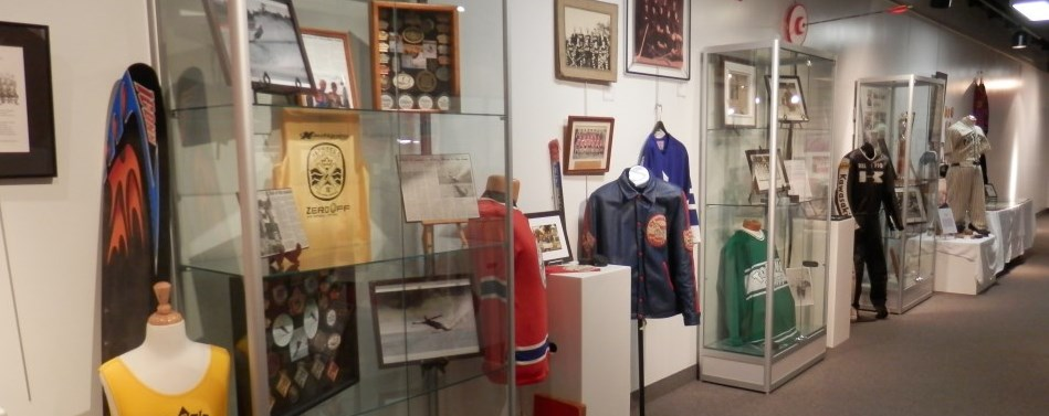 Sports Hall of Fame exhibit