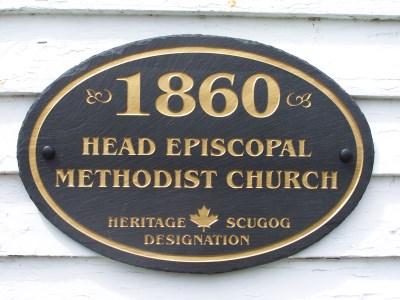 Historic plaque for Head Church