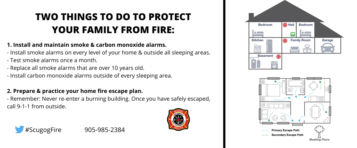 Install smoke and CO alarms and prepare your home escape plan